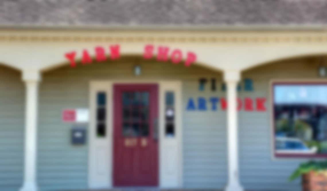 blurred store front fiber artwork huntsville madison alabama