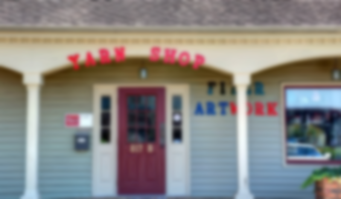 blurred store front fiber artwork huntsville madison alabama